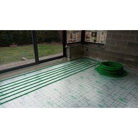"""Superpipe Vloerverwarming  flexibele buis """"the Green pipe pakket"""