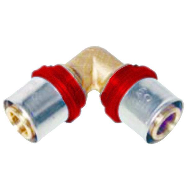 Iezy Pers  knie  20 x 20 -2.0 haaks   waterleiding / meerlagenbuis – CV & Sanitair - messing
