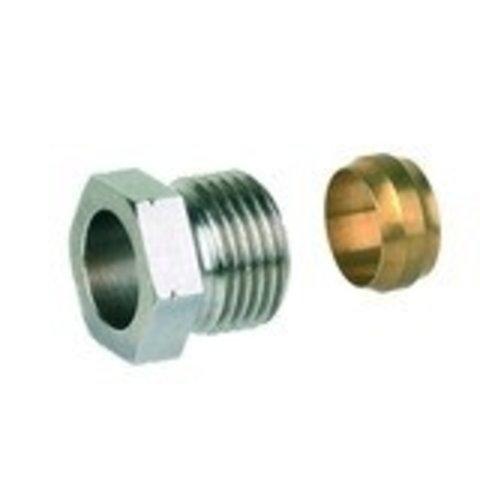 """Snelkoppeling  1/2"""" x 15 mm koper"""