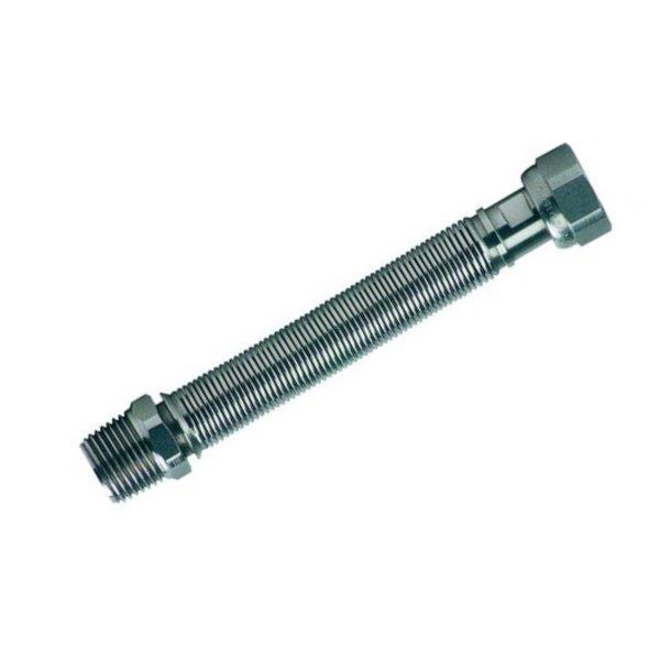 """Iezy Uitrekbare plooibare inox  flexibel 3/4""""DN15 L100/200 mm"""