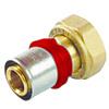 "Pers adapter  1/2""- 16-2.0  flat  recht   / rechte  adapter   waterleiding / meerlagenbuis – CV & Sanitair - messing - Copy"