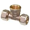 """T - koppeling  knel 3/4""""F x 26-3.0  t-koppeling  /  waterleiding / meerlagenbuis – CV & Sanitair - messing"""