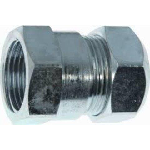 Staal verzinkte knelkoppeling 1/2  F x 22  mm