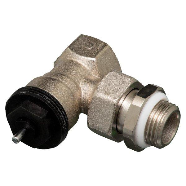 Superpipe Thermostatische haakse kraan 1/2 x -met knelstuk 15mm  met thermostatische knop M30