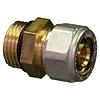 """Knel rechte koppeling O-ring  1/2""""M x 16-2.0 recht  / rechte  koppeling – waterleiding / meerlagenbuis – CV & Sanitair - messing - Copy"""
