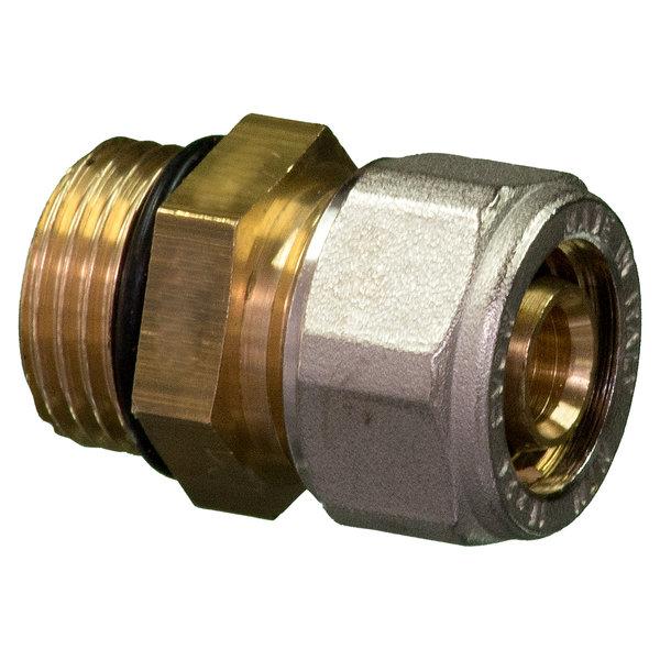 """Iezy Knel rechte koppeling O-ring  1/2""""M x 16-2.0 recht  / rechte  koppeling – waterleiding / meerlagenbuis – CV & Sanitair - messing - Copy"""