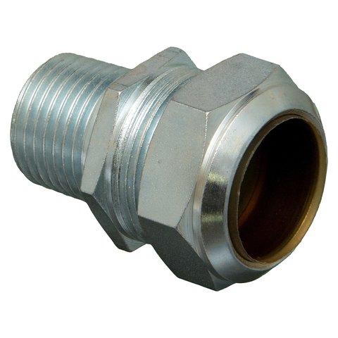 Staal verzinkte knelkoppeling 1/2 M x 15 mm