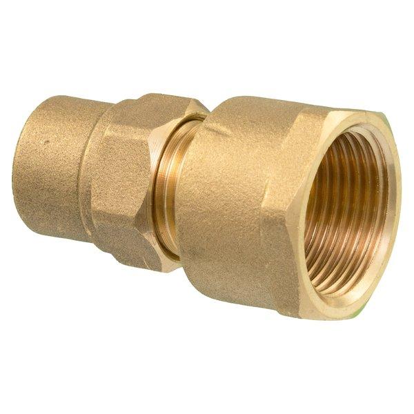 """Iezy Knel  recht 1/2"""" F x koper 12  mm recht  /recht  koppeling – waterleiding CV & Sanitair - messing"""