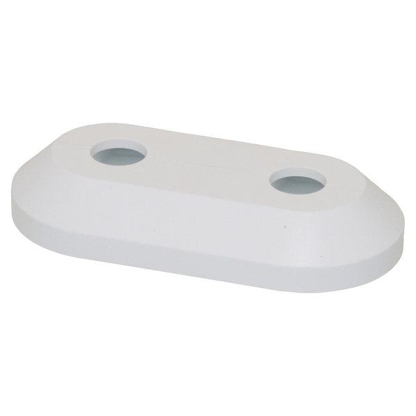 Iezy Rozet dubbel: wit hartafstand 50 mm Ø 16 mm hoge matte versie