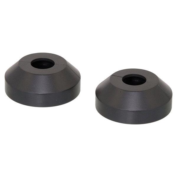 Iezy Rozet enkel: zwart  Ø 15 mm- 2stuks