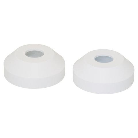 Rozet enkel: wit Ø 16 mm- 2stuks