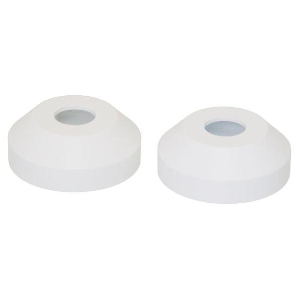 Iezy Rozet enkel: wit Ø 15 mm- 2stuks