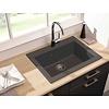 Keukenspoelbak composiet / Elma 1bak zwart gespikkelde grafiet keukenspoelbak  / keukenspoelbak