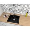 Keukenspoelbak composiet Mika 1bak /  zwart gespikkelde grafiet keukenspoelbak / Mika  keukenspoelbak / inbouw en onderbouw