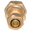 Knel rechte overgangskopeling koperCU 15x16-2 /rechte  koppeling – waterleiding / meerlagenbuis – CV & Sanitair - messing