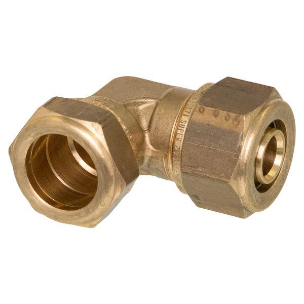 Iezy Knel knie overgangskopeling koperCU 15x16-2 haaks-knie /haakse koppeling – waterleiding / meerlagenbuis – CV & Sanitair - messing