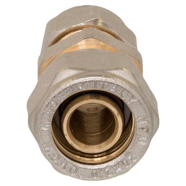 Iezy Overgangskoppeling recht  D20-2,0-koper12 mm