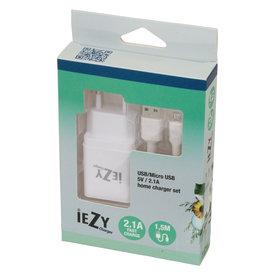 Iezy Iezy-charger set USB/Micro USB 5V/21A