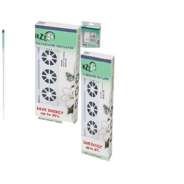 Iezy Iezy-fan radiator ventilator senior -set  inclusief adapter  /bespaar/verminder uw stookkosten