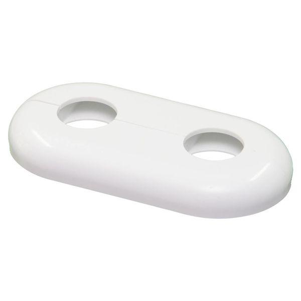 Iezy Rozet dubbel : wit hartafstand 50 mm  Ø 21.7 mm