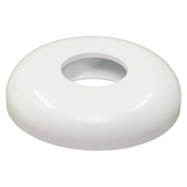 Iezy Design rozet enkel afwerking buizen  radiatoren wit Ø 21.7 mm -2stuks