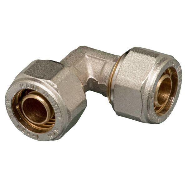 Iezy Knel kniekoppeling 16 x 16-2.0 haaks - knie / haakse koppeling – waterleiding / meerlagenbuis – CV & Sanitair - messing