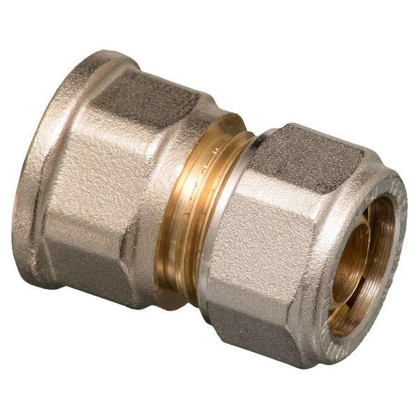 """Iezy Knel rechte koppeling 1/2""""F X 20-2.0 recht  / rechte  koppeling – waterleiding / meerlagenbuis – CV & Sanitair - messing"""