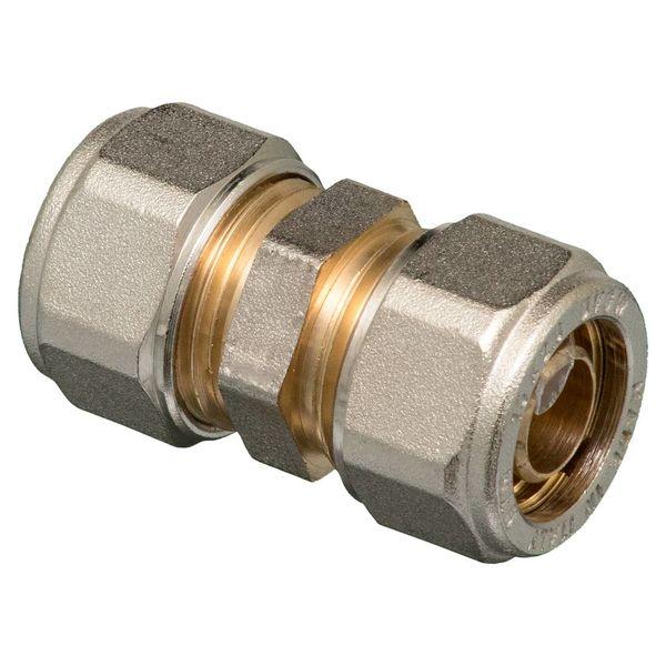 Iezy Knel rechte koppeling  16 x 16-2.0 recht  / rechte  koppeling – waterleiding / meerlagenbuis – CV & Sanitair - messing