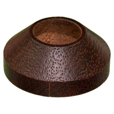 Design rozet enkel: massief merbau Ø 21.7 mm - 2stuks
