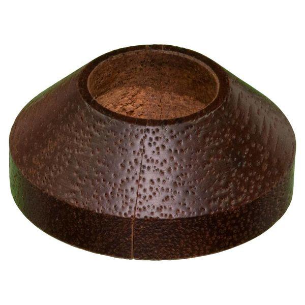 Iezy Design rozet enkel: massief merbau Ø 21.7 mm- 2stuks