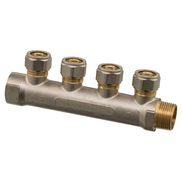 "Iezy Verdeler  knelkoppeling 3/4"" x 16-2.0 /verdeler knel– waterleiding / meerlagenbuis – CV & Sanitair - messing"