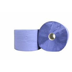 Poetspapier - Blauw - 22cm x 360m, 2 laags, 2 rollen