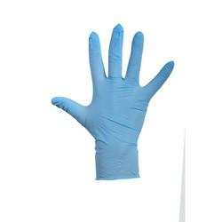 Blauwe Latex Handschoen gep- 100 stuks