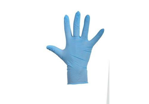 Huchem Blauwe Latex Handschoen gep- 100 stuks