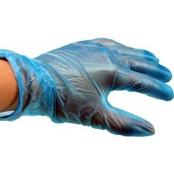 Blauwe Vinyl Handschoen gep. - 1000 stuks
