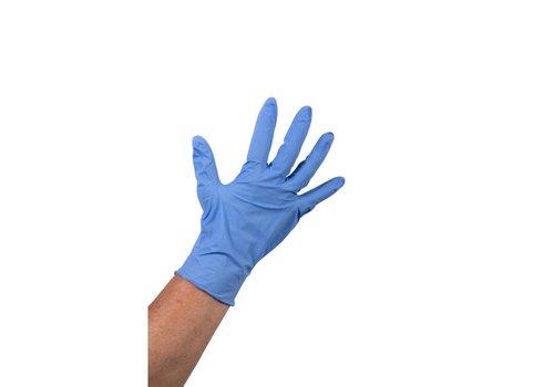 Huchem Blauwe Nitril Heavy Duty Handschoen ongepoederd - 1000 stuks