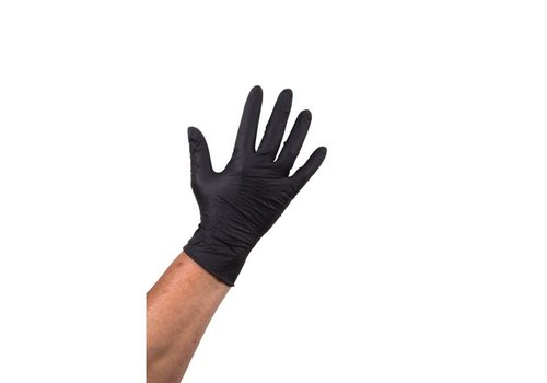 Huchem Zwarte Nitril Heavy Duty Handschoen ongepoederd - 1000 stuks