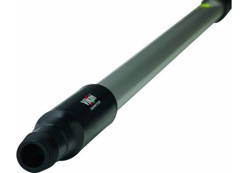 Ergonomische steel met waterdoorvoer - 150 cm