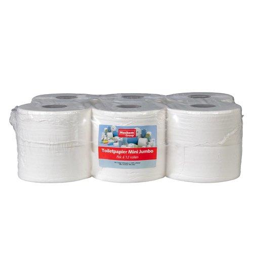 Toiletpapier Mini Jumbo - 12 rollen, 180m, 2 laags