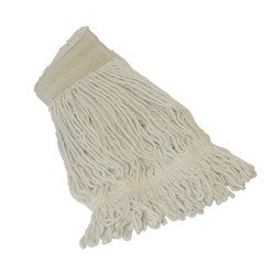 Witte Dweilmop gelust met band - 450 gram