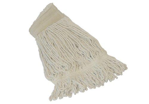 Huchem Witte Dweilmop gelust met band - 350 gram