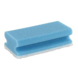Schuurspons blauw met greep -  10 stuks
