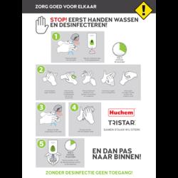 Poster Handen Wassen instructies