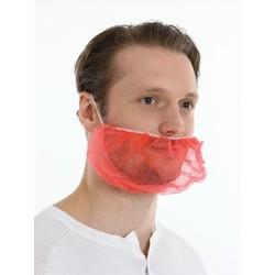 Baardmasker Non Woven - 1000 stuks - rood