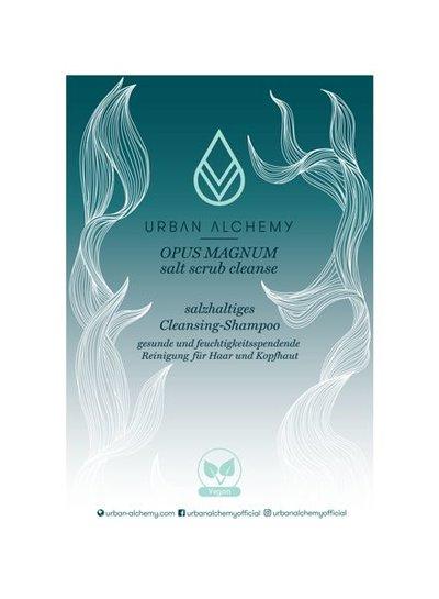 URBAN ALCHEMY OPUS MAGNUM salt scrub cleanse Acryl Aufsteller