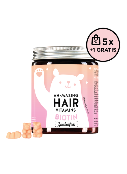 Bears With Benefits Ah-mazing Hair Vitamin Biotin Zuckerfrei 5+1 Set