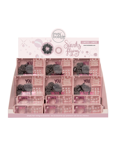 invisibobble®  – Christmas Sparks Flying Duo/Trio Display (18pc)