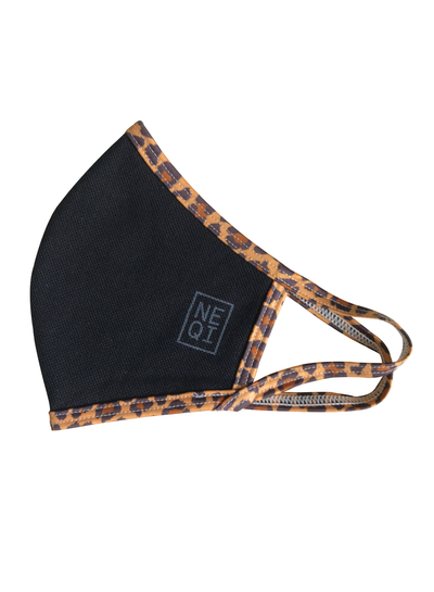 NEQI NEQI Stoffmasken Leopard S-M