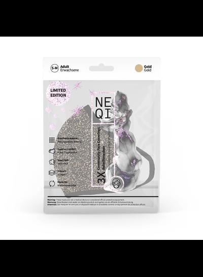 NEQI NEQI Stoffmasken X-Mas Gold S-M