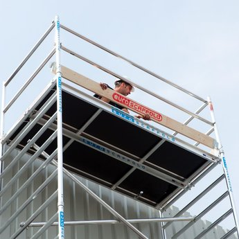 Euroscaffold Set aluminium kantplanken 250 x 75 cm